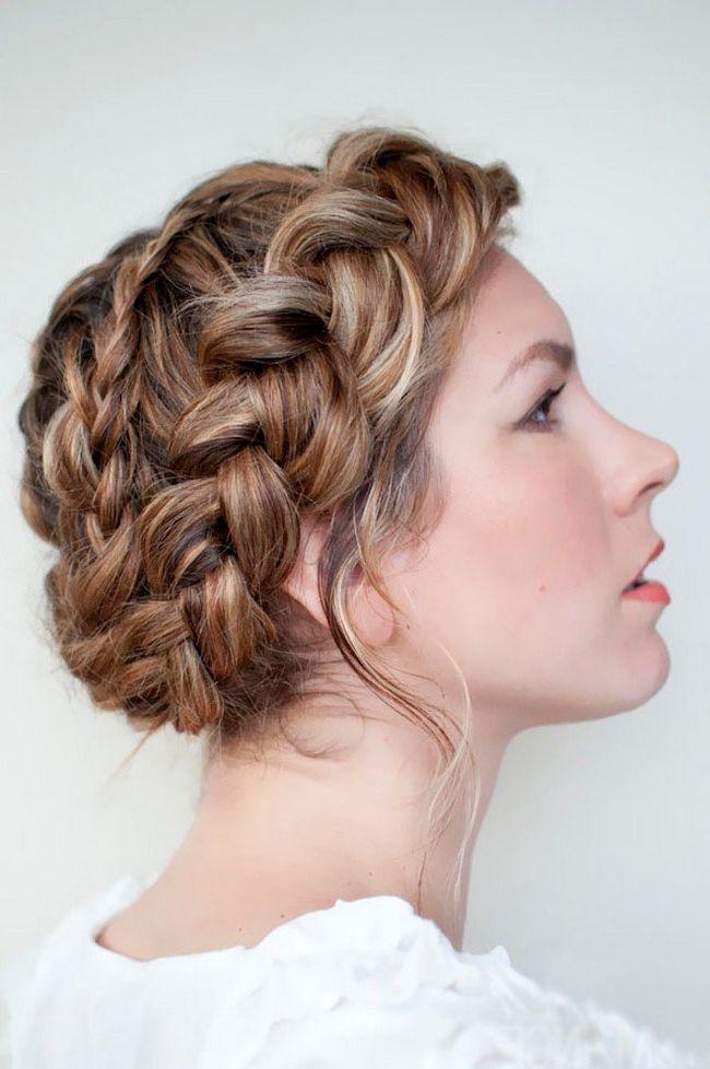 Коса вокруг головы. Как заплести косу вокруг головы