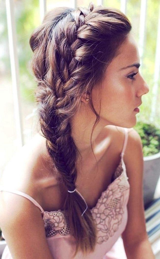 Косы на средние волосы