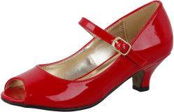 Лакированные красные туфли