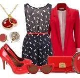 Красные туфли с пиджаком