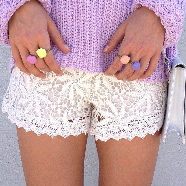 Кружевные шорты