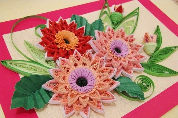 цветы квиллинг