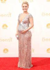 Hayden Panettiere беременная - платье Эмми 2015