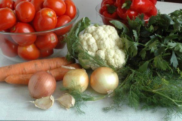 Маринованные овощи фото-рецепт