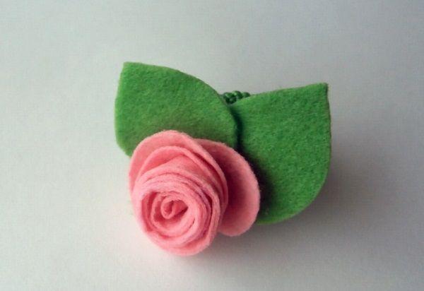 Мастер класс: роза из фетра