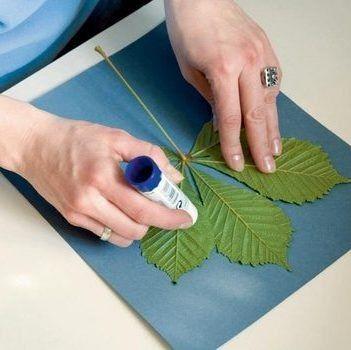 Есть очень простой способ создания необычных картин из цветов и листьев. И