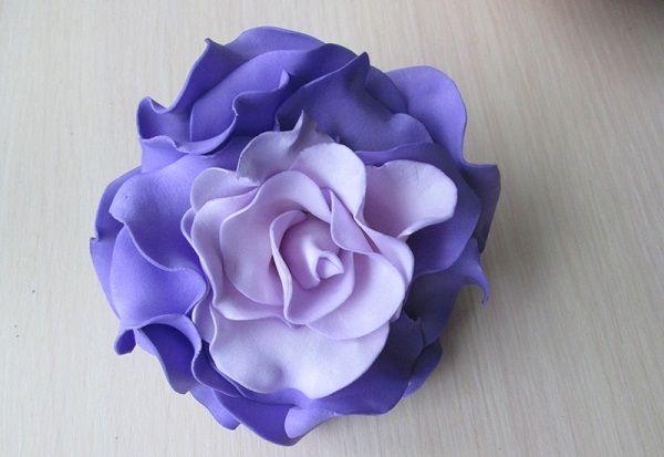 Мк: роза из фоамирана