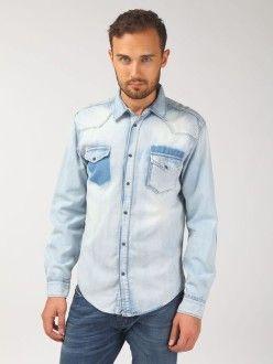 мужская рубашка из денима