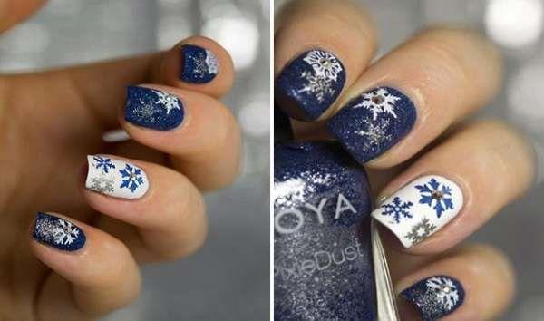 Модный дизайн ногтей шеллаком зима 2016-2017 фото(10)
