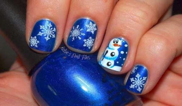 Модный дизайн ногтей шеллаком зима 2016-2017 фото(14)