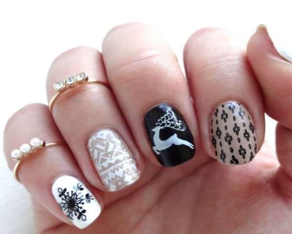 Модный дизайн ногтей шеллаком зима 2016-2017 фото(16)