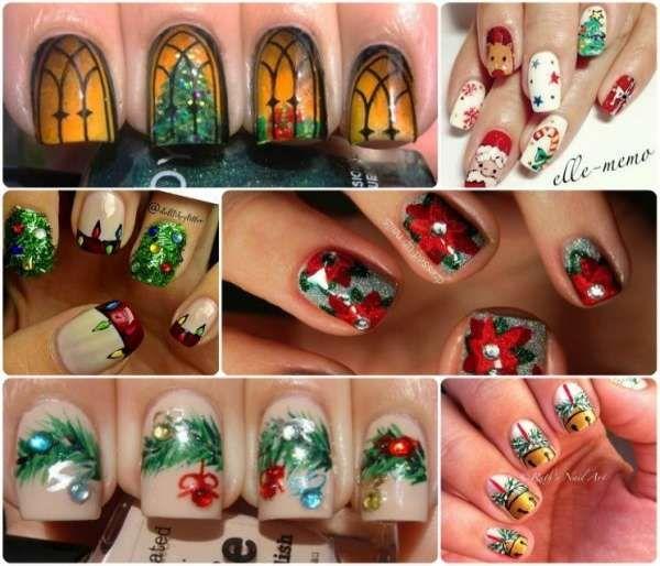 Модный дизайн ногтей шеллаком зима 2016-2017 фото(2)