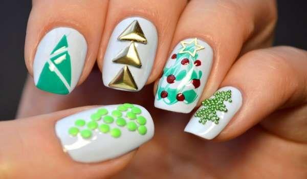 Модный дизайн ногтей шеллаком зима 2016-2017 фото(20)