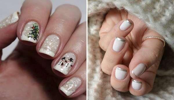 Модный дизайн ногтей шеллаком зима 2016-2017 фото(26)