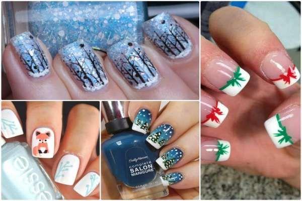 Модный дизайн ногтей шеллаком зима 2016-2017 фото(3)