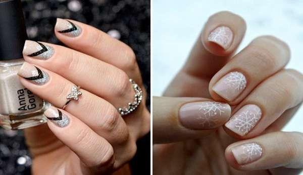 Модный дизайн ногтей шеллаком зима 2016-2017 фото(32)
