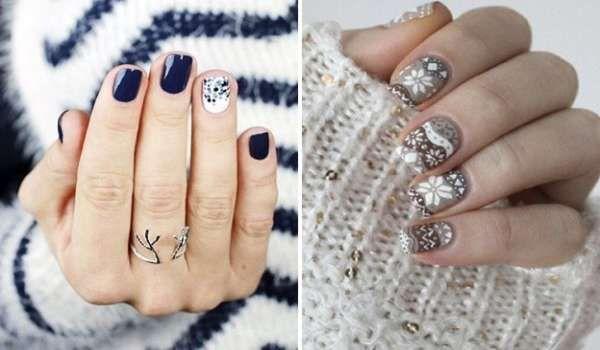 Модный дизайн ногтей шеллаком зима 2016-2017 фото(33)