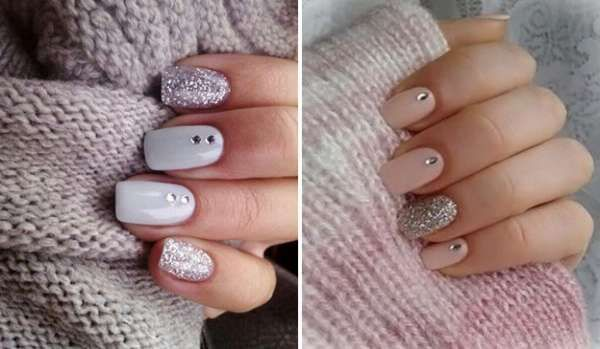 Модный дизайн ногтей шеллаком зима 2016-2017 фото(34)