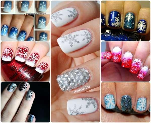 Модный дизайн ногтей шеллаком зима 2016-2017 фото(4)