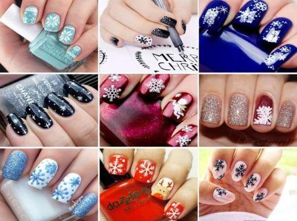 Модный дизайн ногтей шеллаком зима 2016-2017 фото(5)