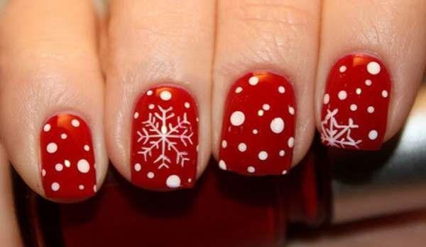 Модный дизайн ногтей шеллаком зима 2016-2017 фото(7)