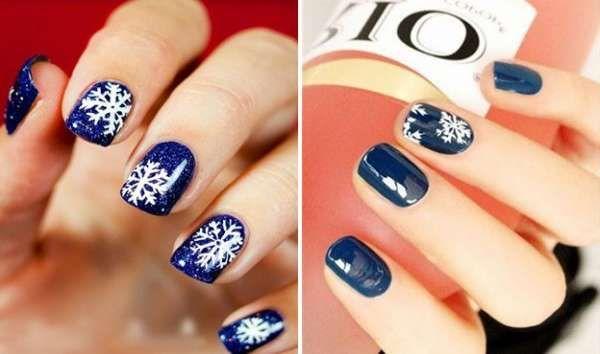 Модный дизайн ногтей шеллаком зима 2016-2017 фото(9)