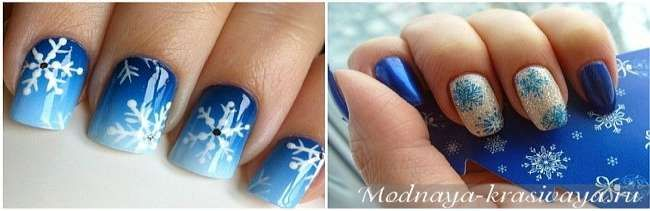 Модный зимний маникюр 2016-2017: морозные рисунки на ногтях