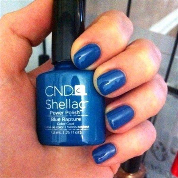 Шеллак синий: нанесение и дизайн