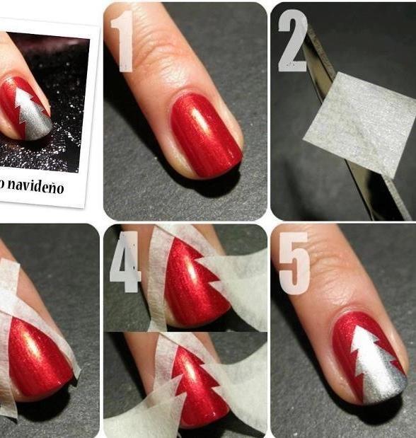Елка на ногтях