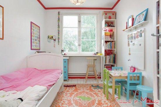 оформление маленькой детской комнаты