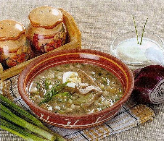 Окрошка с овощами и грибами.