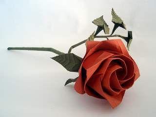 Оригами: цветок из бумаги