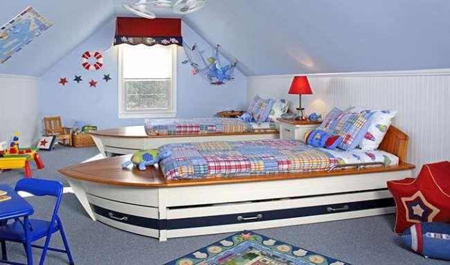 Оригинальная детская в морском стиле — для мальчика или для девочки