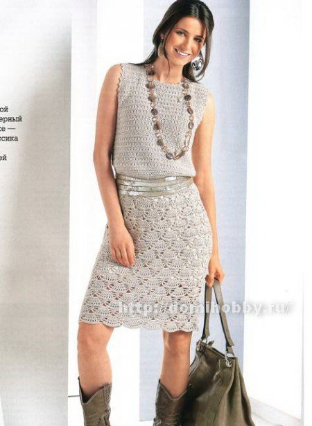 Платье с веерным узором