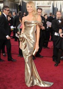 Стейси Киблер в золотом платье