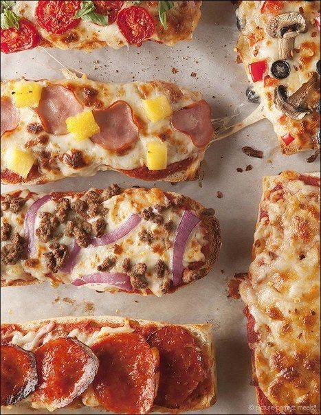 Порционные пиццочки на багете. Быстро и вкусно!