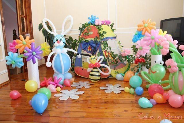 оформление квартиры для детского праздника дня рождения девочки