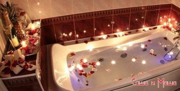 ванна со свечами