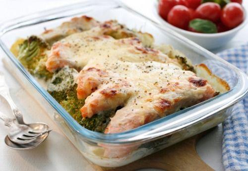 Рецепт кеты с овощами в духовке