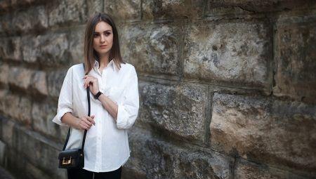С чем носить белую женскую рубашку
