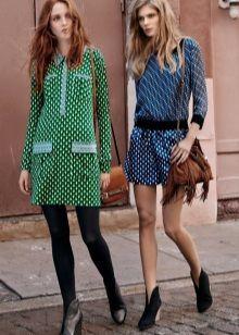 Плотные колготы к зеленому платью