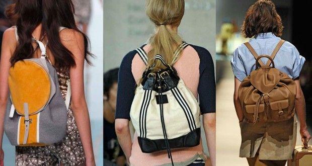 рюкзаки на спине