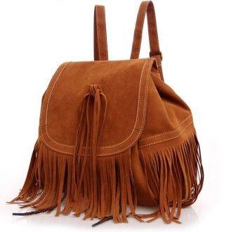мягкий рюкзак из замши