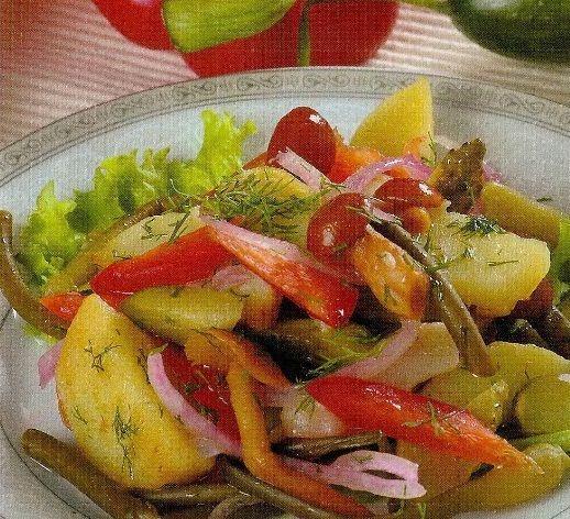 Салат с картофелем и грибами.