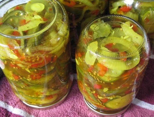 Салаты из огурцов и помидоров на зиму без стерилизации