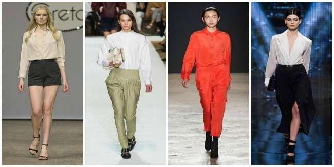 Модные блузы и рубашки осень-зима 2015-2016