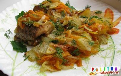 Щука запеченная в духовке с картофелем (фото-рецепт)
