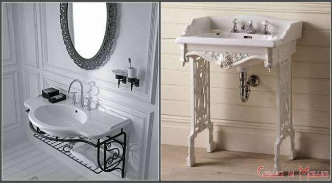 Ванная комната в стиле прованс раковина