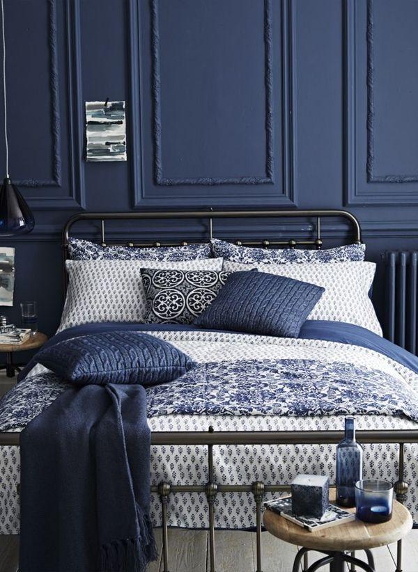 Спальня в синем цвете