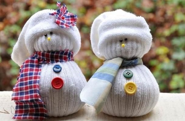 Снеговик из носка - мастер класс